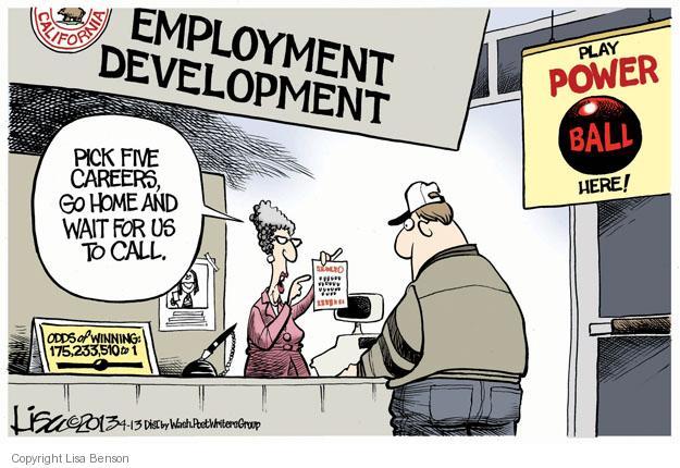 Cartoonist Lisa Benson  Lisa Benson's Editorial Cartoons 2013-04-13 unemployment