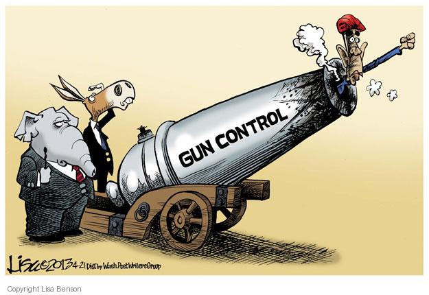 Lisa Benson  Lisa Benson's Editorial Cartoons 2013-04-21 gun control