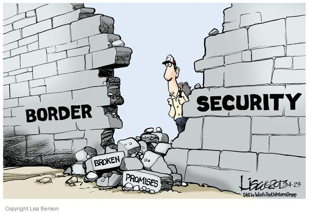 Cartoonist Lisa Benson  Lisa Benson's Editorial Cartoons 2013-04-23 border security