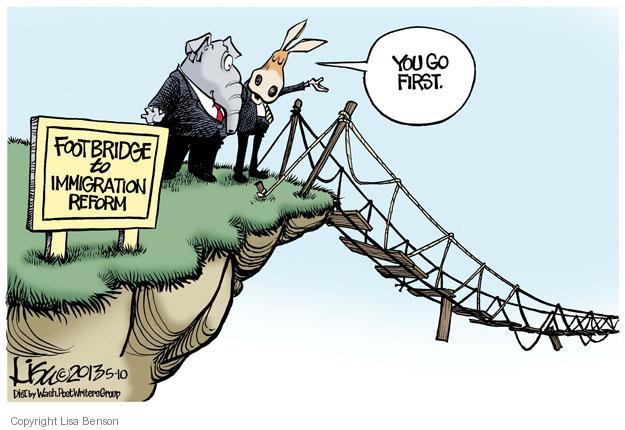 Cartoonist Lisa Benson  Lisa Benson's Editorial Cartoons 2013-05-10 partisan politics