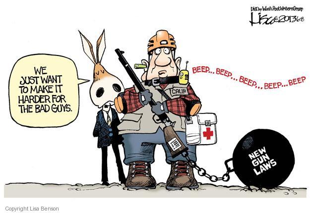 Cartoonist Lisa Benson  Lisa Benson's Editorial Cartoons 2013-06-08 gun violence