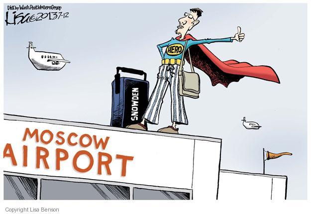Cartoonist Lisa Benson  Lisa Benson's Editorial Cartoons 2013-07-12 political asylum