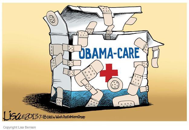 Lisa Benson  Lisa Benson's Editorial Cartoons 2013-07-18 health care reform