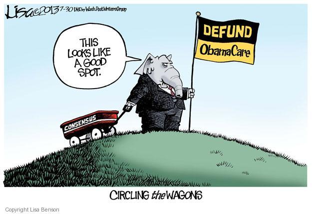 Lisa Benson  Lisa Benson's Editorial Cartoons 2013-07-30 republican politician