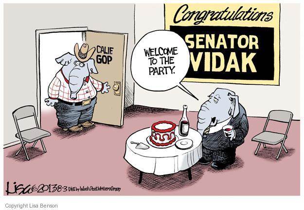Cartoonist Lisa Benson  Lisa Benson's Editorial Cartoons 2013-08-03 senator