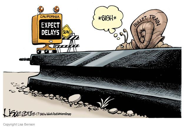 Cartoonist Lisa Benson  Lisa Benson's Editorial Cartoons 2013-08-17 railway