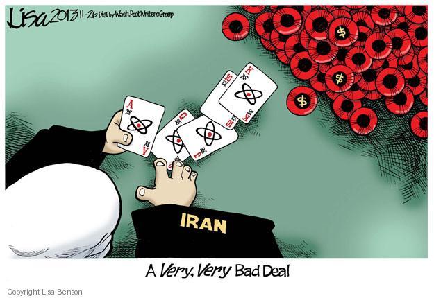 A. Q. J. 10. K. $. Iran. A very, very bad deal.