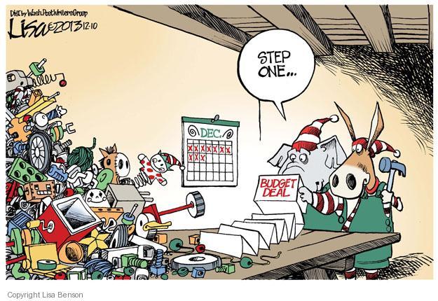 Lisa Benson  Lisa Benson's Editorial Cartoons 2013-12-10 republican politician