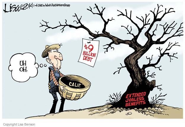 Cartoonist Lisa Benson  Lisa Benson's Editorial Cartoons 2014-01-04 unemployment
