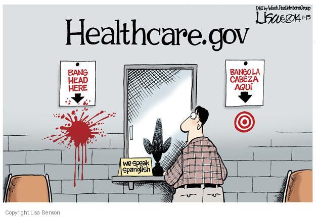 Lisa Benson  Lisa Benson's Editorial Cartoons 2014-01-15 Obamacare