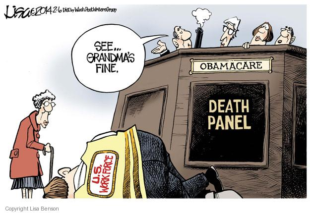 Lisa Benson  Lisa Benson's Editorial Cartoons 2014-02-06 Obamacare