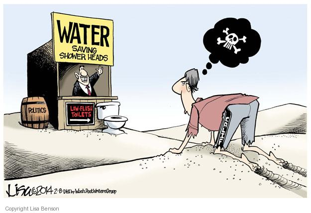 Cartoonist Lisa Benson  Lisa Benson's Editorial Cartoons 2014-02-08 water usage
