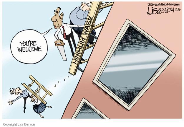 Lisa Benson  Lisa Benson's Editorial Cartoons 2014-02-20 minimum wage