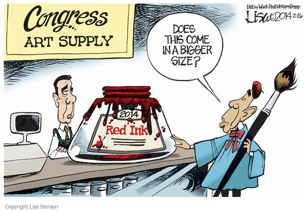 Lisa Benson  Lisa Benson's Editorial Cartoons 2014-02-26 republican politician
