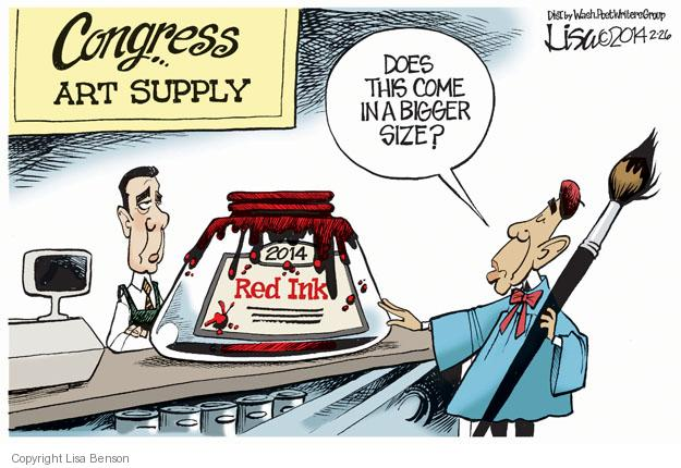 Cartoonist Lisa Benson  Lisa Benson's Editorial Cartoons 2014-02-26 Speaker of the House