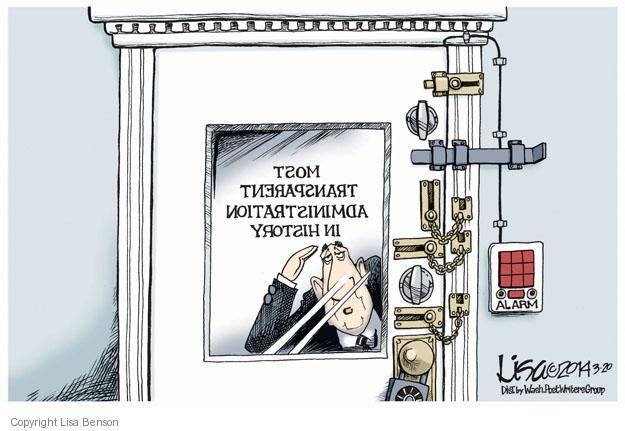 Cartoonist Lisa Benson  Lisa Benson's Editorial Cartoons 2014-03-20 security alarm