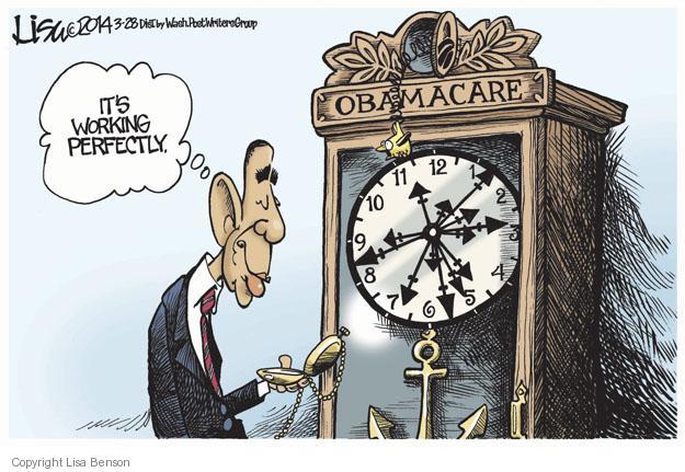 Lisa Benson  Lisa Benson's Editorial Cartoons 2014-03-28 Obamacare