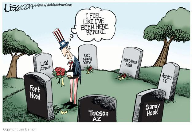 Lisa Benson  Lisa Benson's Editorial Cartoons 2014-04-04 Tucson shooting