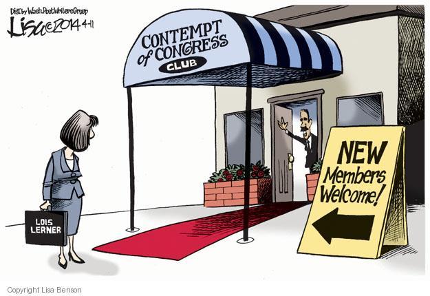 Cartoonist Lisa Benson  Lisa Benson's Editorial Cartoons 2014-04-11 oversight