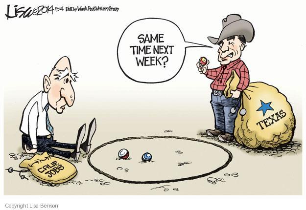 Cartoonist Lisa Benson  Lisa Benson's Editorial Cartoons 2014-05-04 Texas governor