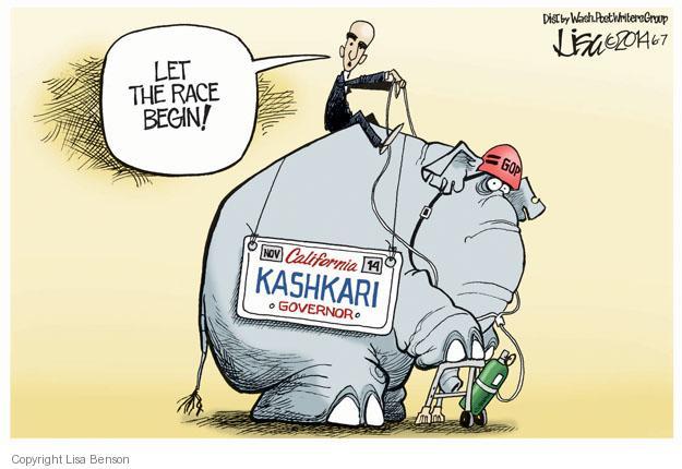 Cartoonist Lisa Benson  Lisa Benson's Editorial Cartoons 2014-06-07 gubernatorial