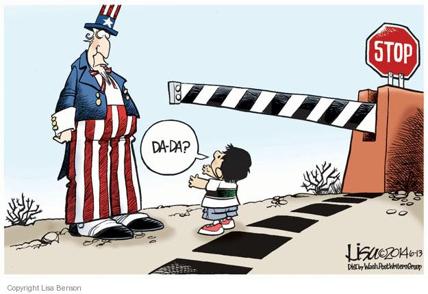 Cartoonist Lisa Benson  Lisa Benson's Editorial Cartoons 2014-06-13 border security