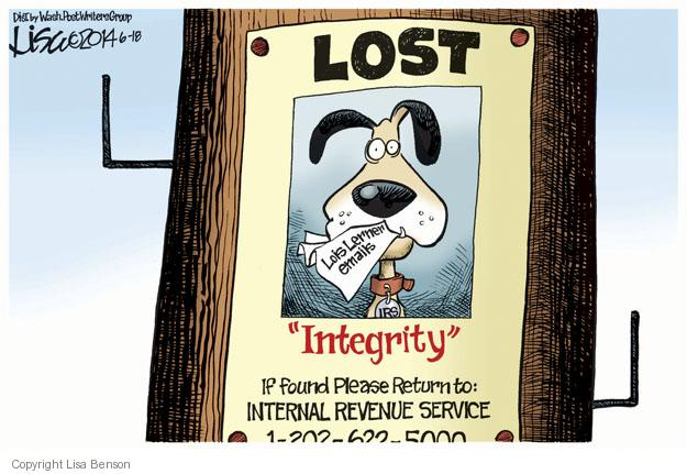 Lisa Benson  Lisa Benson's Editorial Cartoons 2014-06-18 congressional investigation