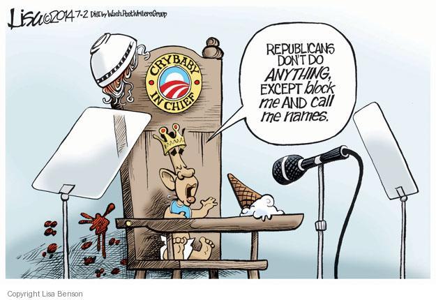 Lisa Benson  Lisa Benson's Editorial Cartoons 2014-07-02 republican politician