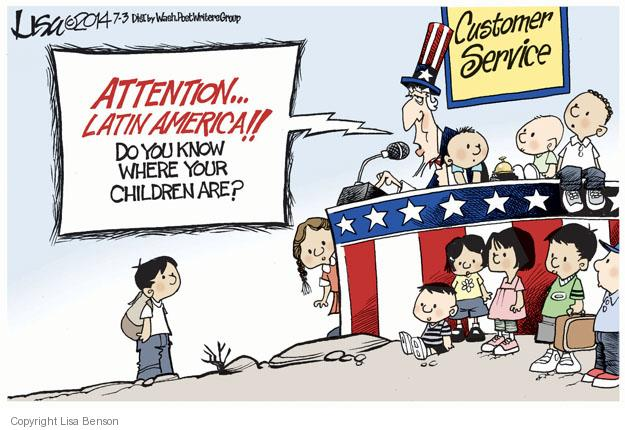 Cartoonist Lisa Benson  Lisa Benson's Editorial Cartoons 2014-07-03 border security