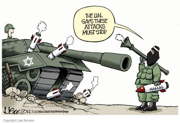 Lisa Benson  Lisa Benson's Editorial Cartoons 2014-07-10 Israel