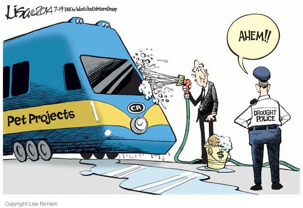 Cartoonist Lisa Benson  Lisa Benson's Editorial Cartoons 2014-07-19 train