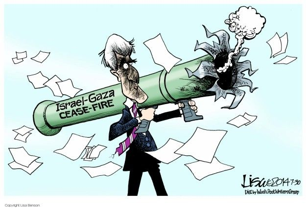 Cartoonist Lisa Benson  Lisa Benson's Editorial Cartoons 2014-07-30 violence