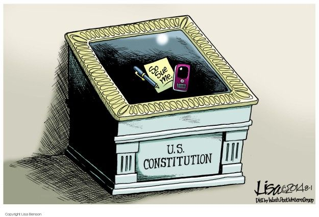 Cartoonist Lisa Benson  Lisa Benson's Editorial Cartoons 2014-08-01 Constitution
