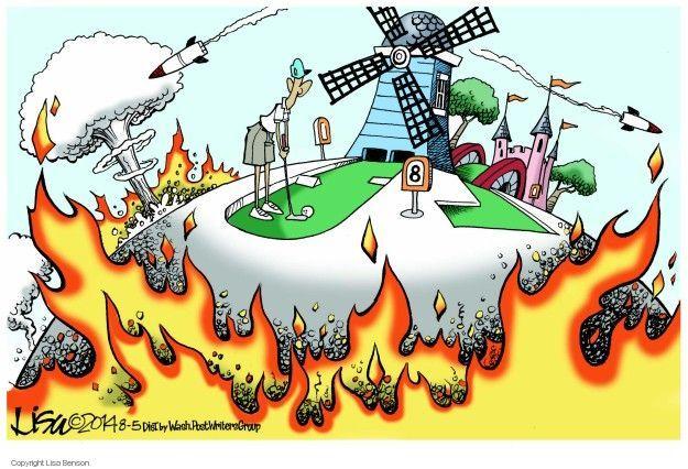 Cartoonist Lisa Benson  Lisa Benson's Editorial Cartoons 2014-08-05 international conflict