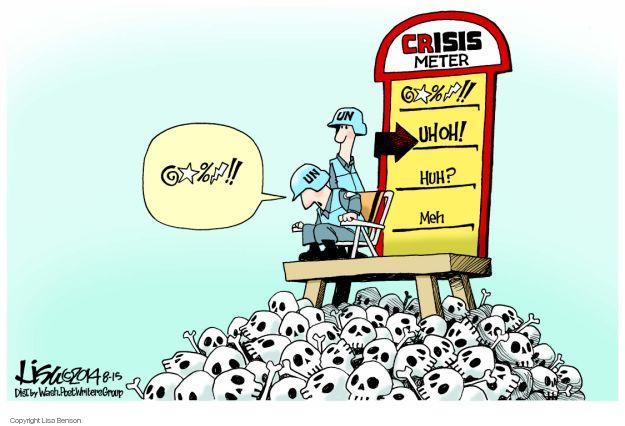 Cartoonist Lisa Benson  Lisa Benson's Editorial Cartoons 2014-08-15 international conflict