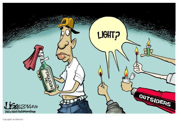 Cartoonist Lisa Benson  Lisa Benson's Editorial Cartoons 2014-08-20 police shooting
