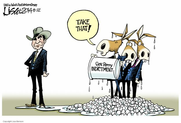 Cartoonist Lisa Benson  Lisa Benson's Editorial Cartoons 2014-08-22 Texas governor