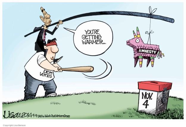Cartoonist Lisa Benson  Lisa Benson's Editorial Cartoons 2014-09-09 election