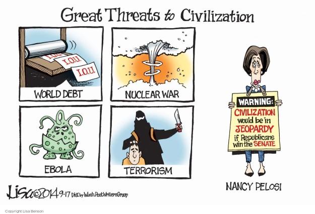 Cartoonist Lisa Benson  Lisa Benson's Editorial Cartoons 2014-09-17 senate minority leader