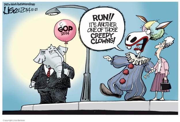 Cartoonist Lisa Benson  Lisa Benson's Editorial Cartoons 2014-10-21 clown