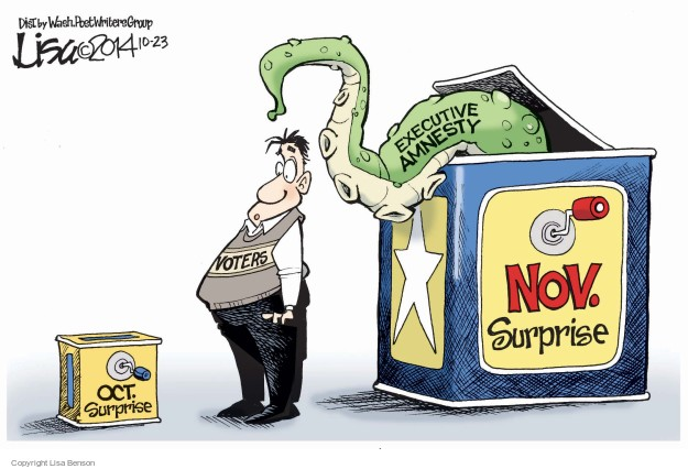 Cartoonist Lisa Benson  Lisa Benson's Editorial Cartoons 2014-10-23 election