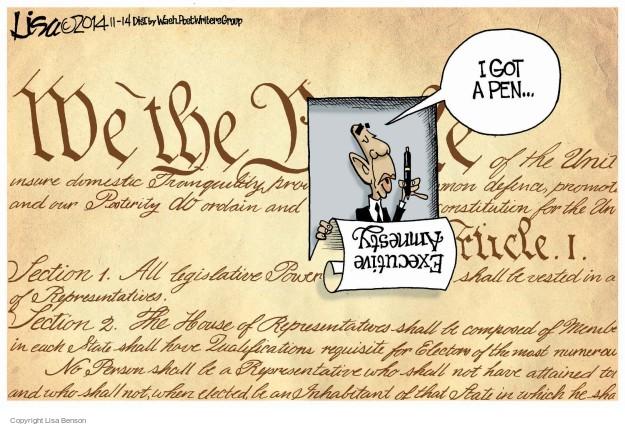 Lisa Benson  Lisa Benson's Editorial Cartoons 2014-11-14 laws