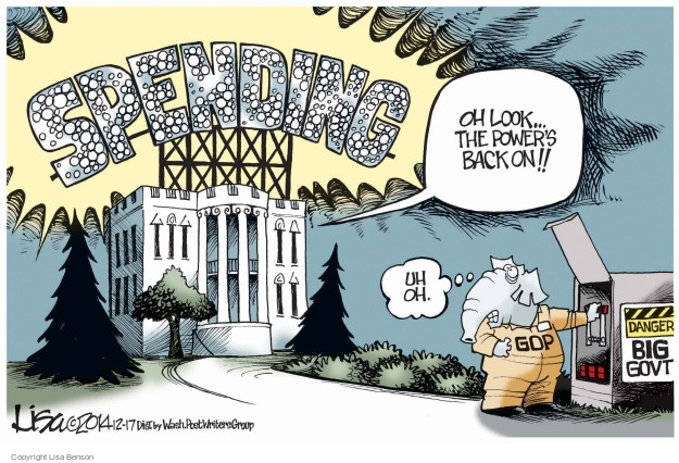 Lisa Benson  Lisa Benson's Editorial Cartoons 2014-12-17 federal budget