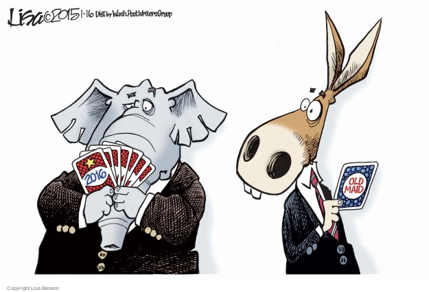 Cartoonist Lisa Benson  Lisa Benson's Editorial Cartoons 2015-01-16 election