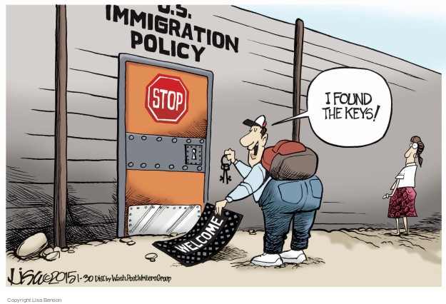 Cartoonist Lisa Benson  Lisa Benson's Editorial Cartoons 2015-01-30 border security