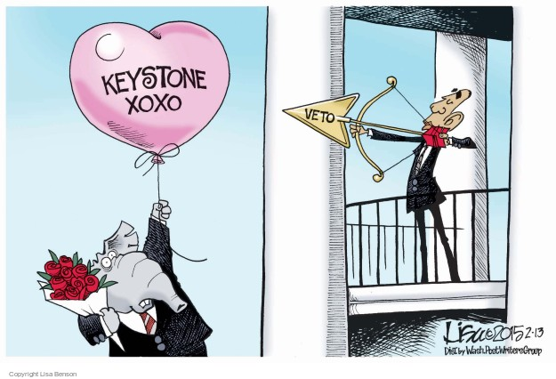 Lisa Benson  Lisa Benson's Editorial Cartoons 2015-02-13 Valentine's Day