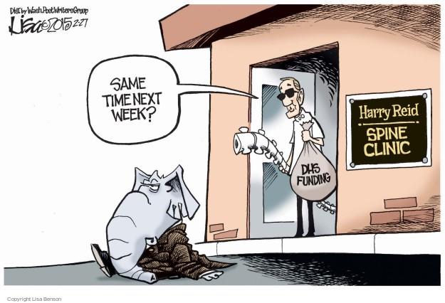 Cartoonist Lisa Benson  Lisa Benson's Editorial Cartoons 2015-02-27 senate minority leader