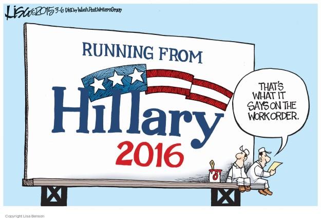Cartoonist Lisa Benson  Lisa Benson's Editorial Cartoons 2015-03-06 donor