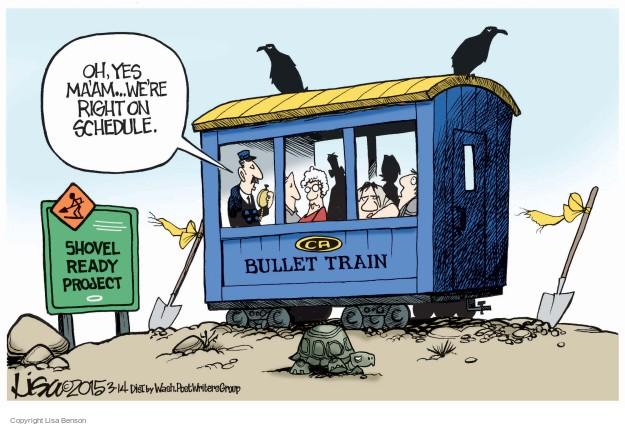 Cartoonist Lisa Benson  Lisa Benson's Editorial Cartoons 2015-03-14 train