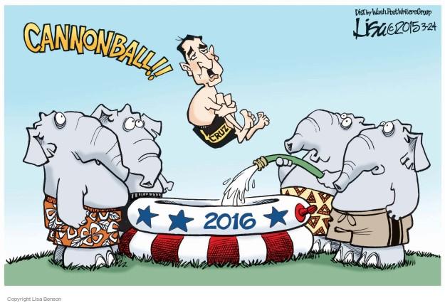 Cartoonist Lisa Benson  Lisa Benson's Editorial Cartoons 2015-03-24 election